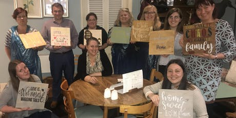 DIY Wooden sign workshop tickets