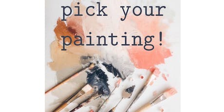 PICK YOUR PAINTING OR PAINT YOUR PET class (all ages)  tickets