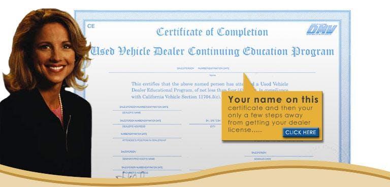 DMV Car Dealer Continuing Education Class - TriStar Motors - Clovis