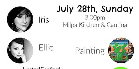 Cactus Paint Class at Milpa Restaurant  tickets