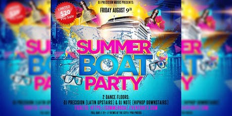 Summer Boat Party (Upstairs Latin & Downstairs HipHop) tickets