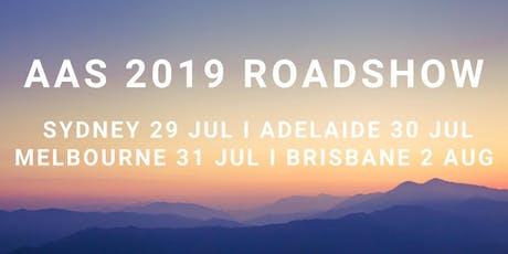AAS 2019 Roadshow tickets