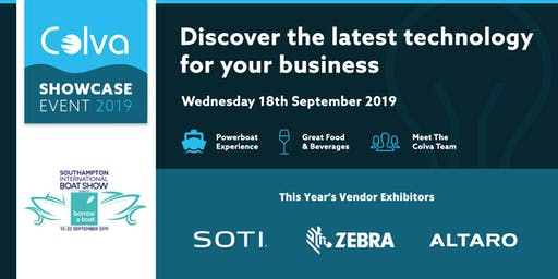 Colva Showcase Event 2019 at the Southampton Boat Show