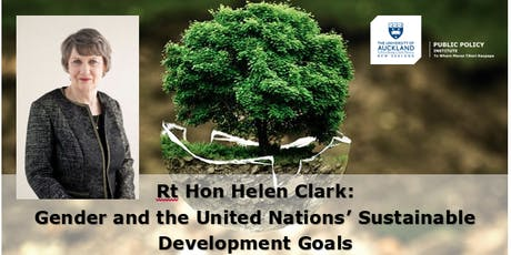 Helen Clark: The Sustainable Development Goals and their Relevance to New Zealand tickets