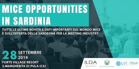 MICE Opportunities in Sardinia - Giornata di approfondimento e formazione biglietti