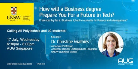 UNSW Seminar: How will a Business degree prepare you for a Future in Tech? tickets