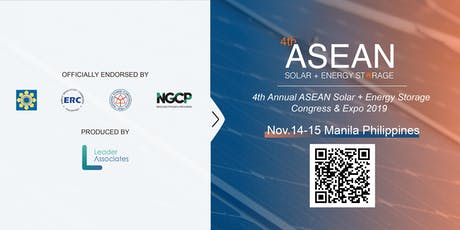 4th ASEAN Solar + Energy Storage Congress & Expo 2019 tickets