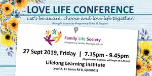 Love Life Conference 27 Sept 2019