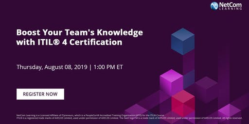 Webinar - Boost Your Team's Knowledge with ITIL® 4 Certification