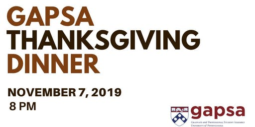 GAPSA Thanksgiving Dinner: Hosted Mia & Me Catering