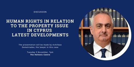 Human Rights in relation to the Property Issue in Cyprus tickets