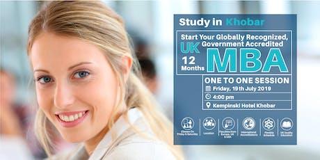 UK MBA Seminar - Khobar tickets