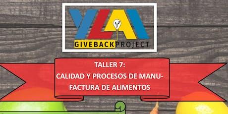 Taller 7: Calidad Y Procesos De Manufactura De Ali tickets