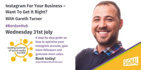 Instagram for your business – want to get it right? With Gareth Turner tickets