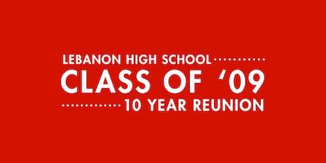 LHS Class of 2009 10 Year Reunion tickets