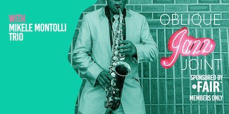 Oblique's Jazz Joint: September tickets
