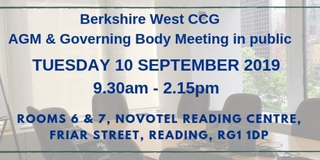 Berkshire West CCG Annual General Meeting and Governing Body Meeting tickets