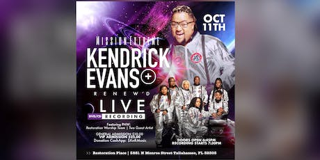 Kendrick Evans and Renew'd LIVE - Mission Extreme tickets
