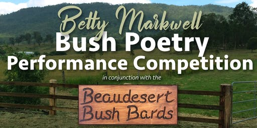 Betty Markwell Bush Poetry Performance Competition 2019