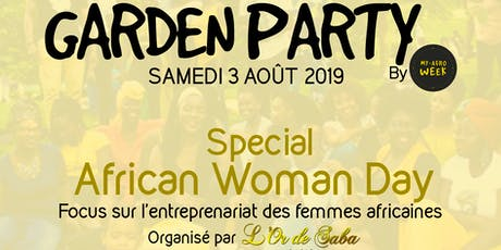 Garden Party My Afro'Week, Spécial African Woman Day avec l'Or de SABA billets