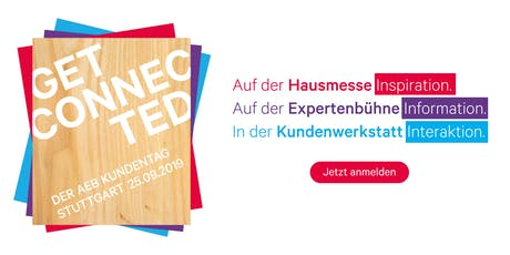 Get Connected  .  Der AEB Kundentag 2019 Tickets