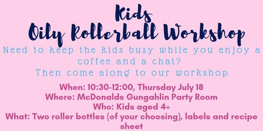 Kids Oily Rollerball Workshop