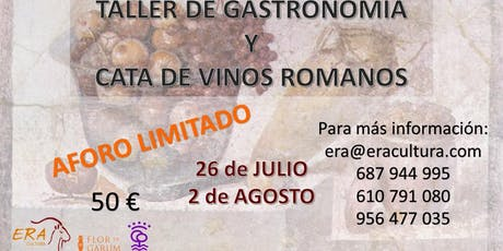 TALLER DE GASTRONOMÍA ROMANA entradas