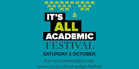 UCL It's All Academic Festival 2019: Visit to the Fish Facility (14:00)   tickets