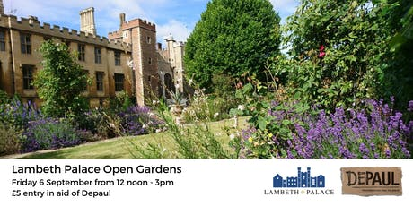 Lambeth Palace Open Gardens with Depaul tickets