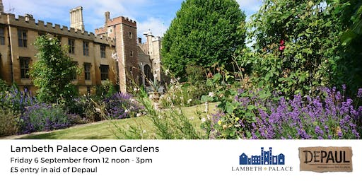 Lambeth Palace Open Gardens with Depaul