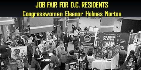 Congresswoman Eleanor Holmes Norton's Jobs Fair for DC Residents tickets