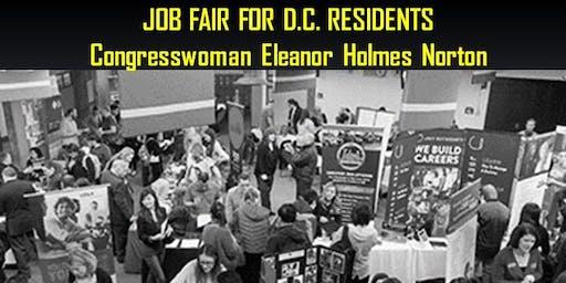 Congresswoman Eleanor Holmes Norton's Jobs Fair for DC Residents