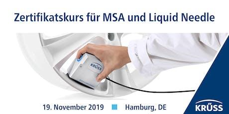 Zertifikatskurs für MSA und Liquid Needle tickets