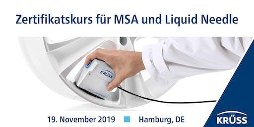 Zertifikatskurs für MSA und Liquid Needle