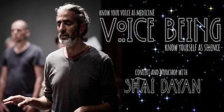 Primal: Shai Dayan Voice Being Workshop bilhetes