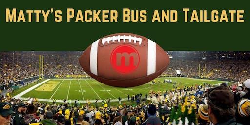 Matty's Packer Bus and Tailgate Oct 20th vs Oakland Raiders