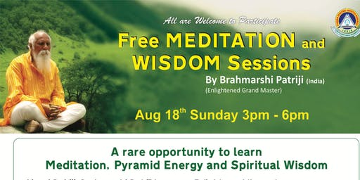 Free Meditation and Wisdom Session, All are Welcome to Join