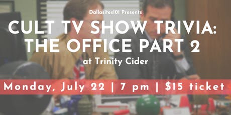 Cult TV Show Trivia: The Office Part 2 tickets