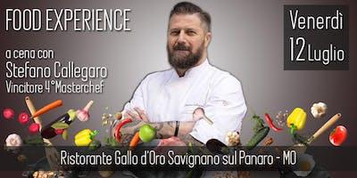 A cena con Stefano Callegaro, al Gallo d'Oro, Savignano sul Panaro