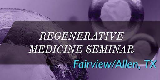 FREE Regenerative Medicine & Stem Cell for Pain Lunch Seminar - Fairview/Allen, TX