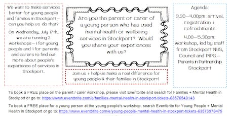 Families + Mental Health in Stockport tickets