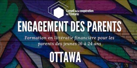 OTTAWA - Engagement des parents - Formation en litéracie financière pour les parents des jeunes 16 à 24 ans billets