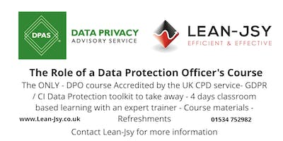 The Role of a Data Protection Officer - UK CPD Certified - Register an interest - 10% discount for early bird tickets