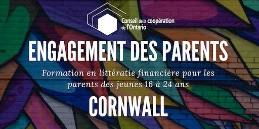 CORNWALL- Engagement des parents - Formation en litéracie financière pour les parents des jeunes 16 à 24 ans