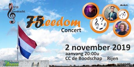 75 Freedom - Bevrijdingsconcert met muziek van toen tot nu tickets