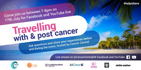 Be in the audience - 'Travelling with & post cancer' live event tickets