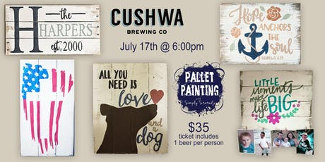 Pallet Paint Night @ Cushwa Brewing Company tickets