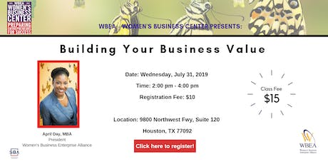 Building Your Business Value tickets