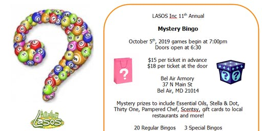11th Annual Mystery Bag Bingo