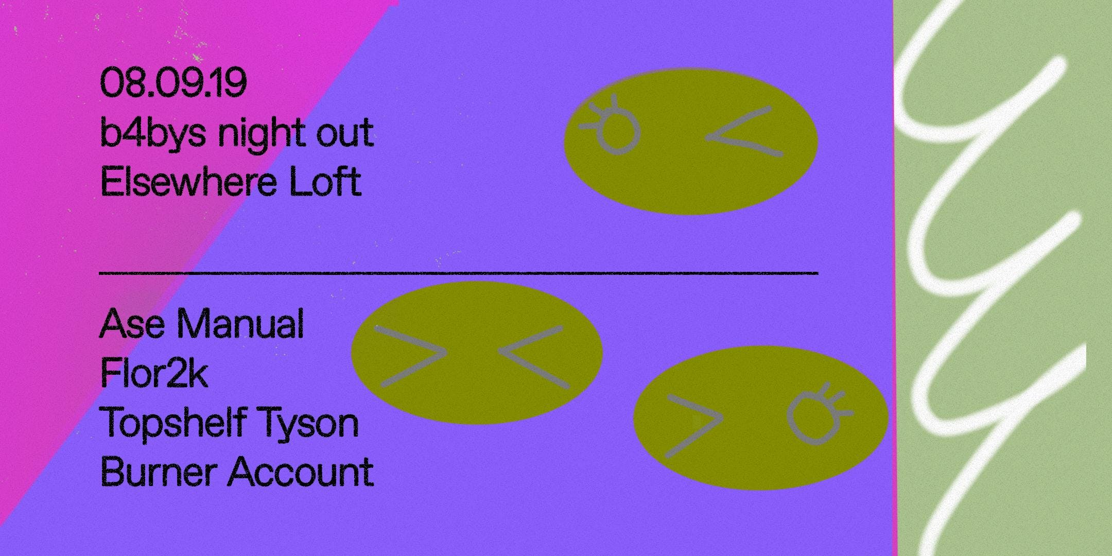 B4 Sounds w/ Ase Manual, Flor2k, Topshelf Tyson, Burner Account